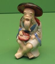 Occupied Japan figurine Chinese Man in wide hat  6 inches