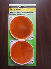 Orange Reflectors - Pkg of 2 - Hy-Ko Products CDRF-3A - NEW - Made in USA