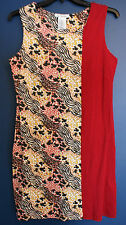 New Disney Parks Authentic MICKEY MOUSE Animal Print Red Sundress Misses Medium