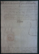 King Victor Amadeus III of Sardinia Signed Military Appointment - Duranti 1786