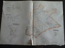HISTORIC 1883 Map of the Towns of Upper Uwchlan, Cochranville & St. Mary's, PA