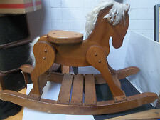 k22 Childs Deluxe Wooden Rocking Horse Amish Built Solid Oak Wood Kids Toy!