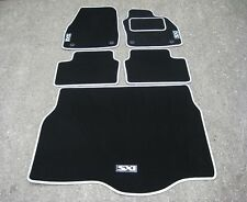 Car Mats in Black/Silver to fit Vauxhall Astra Mk5 (04-09)+ SXi Logos + Boot Mat