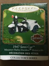 2001 Hallmark 1947 Servi-Car Harley Davidson Miniature Ornament New NIB