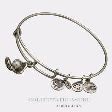 Authentic Alex and Ani Oyster Rafaelian Silver Charm Bangle