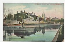 Kent, Maidstone, Old Palace Church & College Postcard, A845
