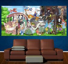 STUDIO GHIBLI CHARACTERS - Large Laminated Poster - Anime - Manga Totoro kiki