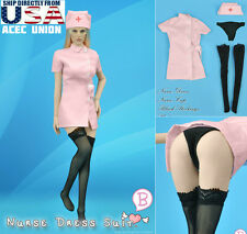 1/6 Sexy Nurse Uniform Dress Set B For Phicen Hot Toys Female Body U.S.A. SELLER