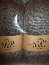 KNITTING WOOL & YARN  2 x 400g - ARAN COUNTRY - BROWN/GREY
