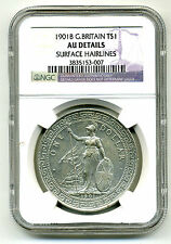 Great Britain Trade Dollar 1901-B,NGC AU Details