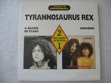 TYRANNOSAURUS REX A BEARD OF STARS+UNICORN 2xLP Excellent Condition MARC BOLAN