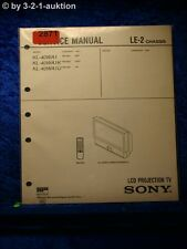 Sony Service Manual KL 40WA1 /K /U (#2871)