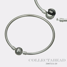 "Authentic Pandora Sterling Silver Bangle Bracelet 6.7"" 590713"