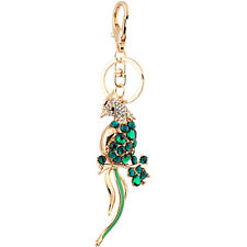 Handbag Buckle Charm Accessories Emerald Green Bird Keyrings Key Chains HK57