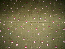 """1 Yd x 44"""" SNOWBOUND The Buggy Barn Henry Glass & CO. green squares snowmen red"""