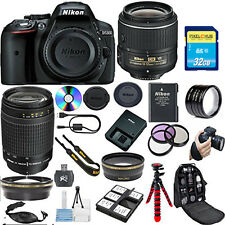 Nikon D5300 DSLR Camera w/ 18-55mm VR Lens and 70-300mm G Zoom Lens! Pro Bundle!