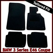 BMW 3-Series E46 Coupe 1999-2006 Tailored Fitted Carpet Car Floor Mats BLACK