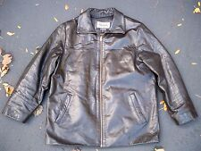 Vintage Wilsons Leather Black Motorcycle Biker Riding Lined Men's Jacket Coat L