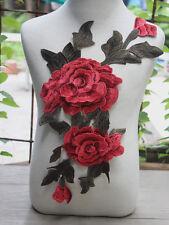 1pcs Exquisite Multi-Color 3D Venise Flower Motif Embroidered Lace Applique