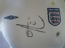 England 2005-2007 Home Football Shirt Signed by Rio Ferdinand with our COA