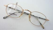 Nazareno Corsini Antiklook gold Herrenbrille Acetatbügel Vintage GR:M zierlich