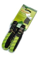 "ADJUSTABLE MOTORCYCLE ROK STRAPS, 12"" to 42"" LUGGAGE BUNGEE TWIN PACK"