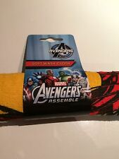 BNWT New Marvel Avengers Assemble Soft Washcloth Facecloth Flannel Iron Man Hulk