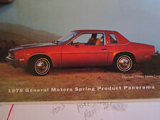 Vtg 1975 GM General Motors Spring Product Panorama Auto/Car  REVIEW 20pg