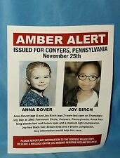 lot of 3 Prisoners Screen Used Missing Person and Amber Alert Flyers Movie Prop
