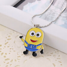 RF Metal Despicable Me Snake Sweater Chains Silver Fill Fong Pendant Necklace