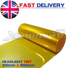 30x100cm YELLOW HEADLIGHT TINTING FILM WRAP VINYL VW GOLF MK3 MK4 MK5 MK6 R32