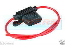 12V/24V STANDARD BLADE IN LINE FUSE HOLDER UP TO 30A WITH SPLASH PROOF COVER