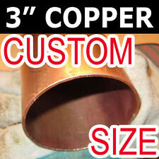"►► 3"" COPPER PIPE / TUBE ►By the inch ►Type L. DWV in. inch fittings READING 3L"