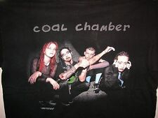 vintage 1998 coal chamber tour rock band tee shirt nu metal gothic alternative
