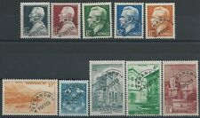 MÓNACO - MATASELLADOS N° 1 à 10 - 10 Sellos Nuevos 1943-51