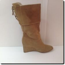 Colin Stuart Brown Suede Wedge Boot