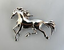 Equestrian Ladies Jewellery Silver Horse Brooch / Lapel Pin * New *