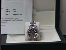 ROLEX DATEJUST II 116334 18K WHITE GOLD & STAINLESS STEEL 41MM BLACK INDEX DIAL