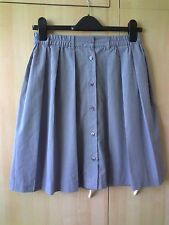 NEW GREY PLEATED, LINED SKIRT BY VERO MODA.  SIZE  34.