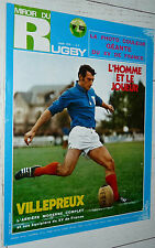 MIROIR RUGBY N°103 1970 XV FRANCE VILLEPREUX SILLIERES LUX PARIES BENESIS XIII
