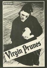 RARE / CARTE POSTALE POSTCARD - VIRGIN PRUNES