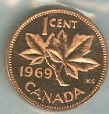 1969-PL Proof-Like Penny 1 One Cent '69 Canada/Canadian BU Coin UNC