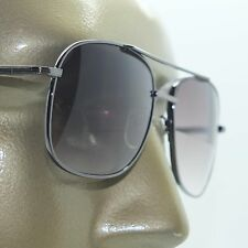 Reading Glasses Man Sunglasses Tinted Aviator True Bifocal Hematite Frame +1.00