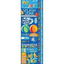 REMINISCE SIGNATURE SRS POOL PARTY SWIMMING SUMMER CARDSTOCK SCRAPBOOK STICKERS
