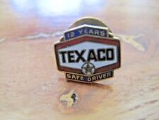 Texaco Safe Driver Pin Back--12 Years--1/10 10K Gold Filled