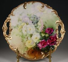 Beautiful  Limoges France Rose Plate Gold Trim