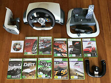 The ultimate Xbox 360 racing package - Genuine MS Wheel + Controller + 11 games