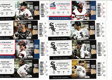 2013 CHICAGO WHITE SOX LOT OF 33 UNUSED TICKET STUBS FOR GAMES 19-52 5/12 - 7/28
