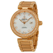 Omega Deville Ladymatic Mother of Pearl Dial 18kt Rose Gold Ladies Watch