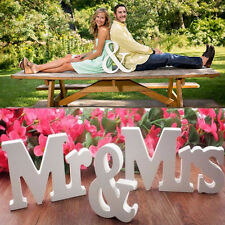 Hot Mr & Mrs Wedding Reception Sign Solid Wooden White Letters Table Decoration